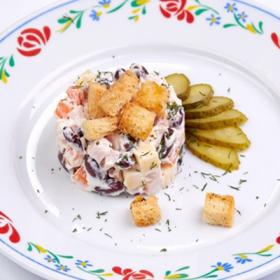Салат с сыром и красной фасолью(ПЯТНИЦА)