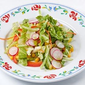 Салат с огурцами, сладким перцем и редисом(СРЕДА)